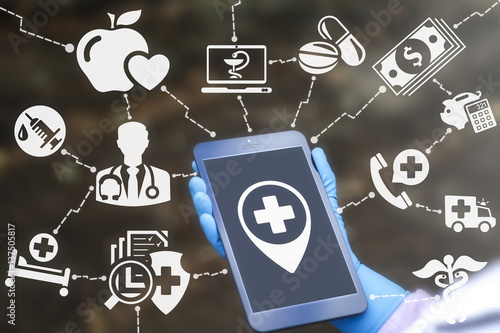 Medicine health care institutions for the location concept