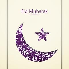 creative vector template or background for Eid Mubarak, Ramadan Kareem or Eid-ul-Fitr. Creative design abstract for Eid.