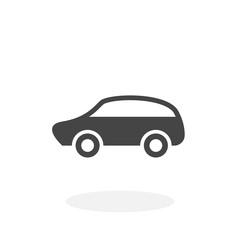 Car Icon. Vector logo on white background