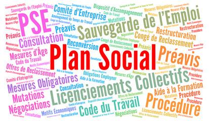 Plan social nuage de mots