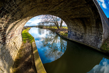 Bridge over canal in Northamptonshire