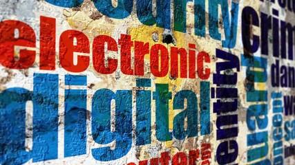 Wall Mural - Digital grunge concept