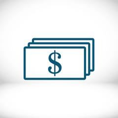 dollar money icon stock vector illustration flat design