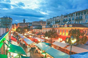 Cours saleya at night, Nice France