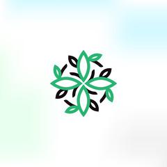 Simplel vector logo in a modern style.