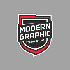 Modern badge graphic