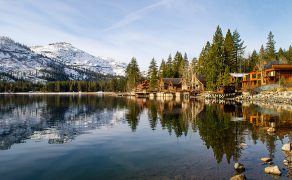 Mountain town reflections