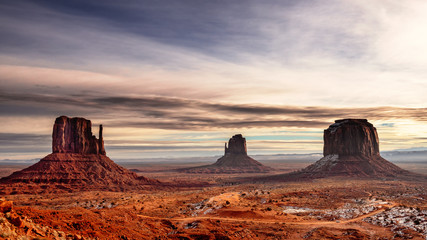 Mitten Buttes in Monument Valley