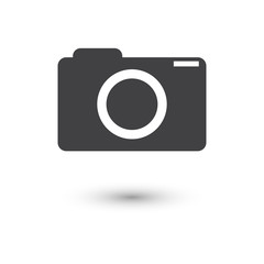 camera icon vector illustration with shadow
