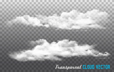 Clouds vector on transparent background.