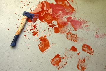 Murder Wall mural