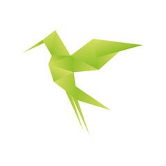 Poster Geometric animals origami paper art