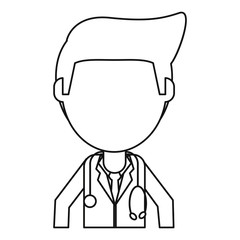 doctor staff medical hospital thin line vector illustration eps 10