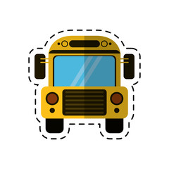 cartoon school bus transport design vector illustration eps 10