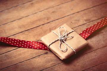 gift and ribbon