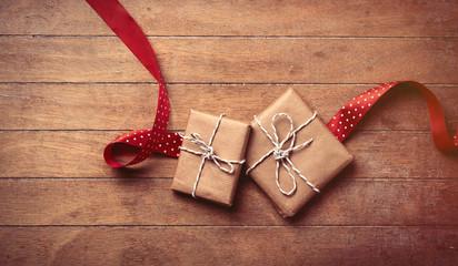gifts and ribbon