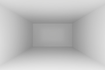 Empty room interior white background. 3d rendering illustration