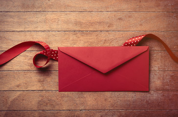 envelope and ribbon