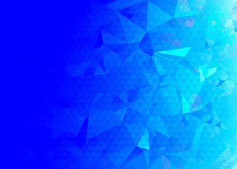 Blue geometric triangle abstract background illustration