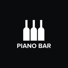 Piano bar logo vector