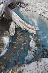 Eiswasser auf einem Gletscher