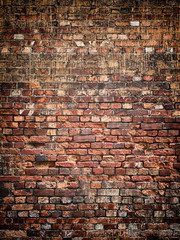Vintage brick wall background texture for design