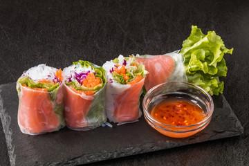 ベトナムの生春巻き  Vietnamese straight spring roll