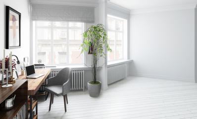 Wohnzimmer mit Einrichtung (Vision)