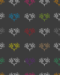 seamless pattern with patterns of hearts