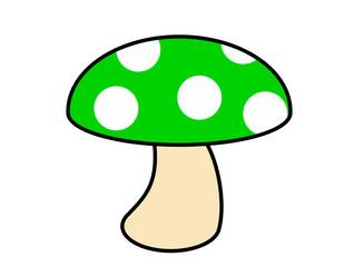 キノコ(緑)