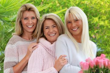 Three blonde mature woman