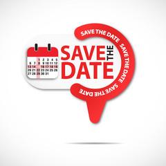 épingle bouton web : save the date