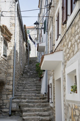 Stairs in an alley, Croatia