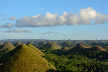 Sunset over Chocolate Hills, Bohol, Philippines