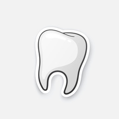 Sticker human tooth