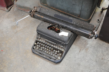 old retro vintage type writer so classic manual machine technology for print paper in the past business