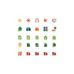 Set of General Related Vector Line Icons. Contains such Icons as Heart,target,Task,File,Baby. Fully Editable. Neatly Done.
