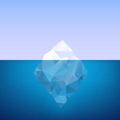 Iceberg. Vector illustration.