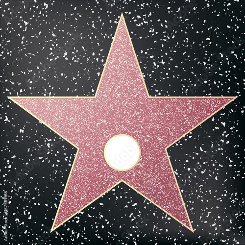 walk of fame star star hollywood vector illustration