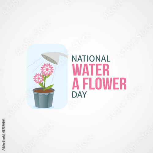quotnational water a flower day vector illustrationquot stock