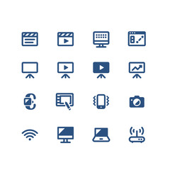 Set of multimedia related vector icons for your design.Fully Editable. Neatly done.