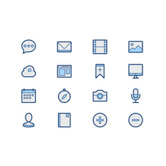 Set of Miscellaneous  Related Vector Icons. Contains such Icons as Mail, Bookmark, Monitor, Bookmark, Avatar, Magnifier, Magnifier and more. Fully Editable. Neatly Done.