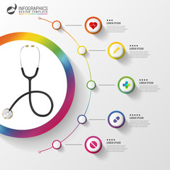 Medical And Health infographics. Modern design template
