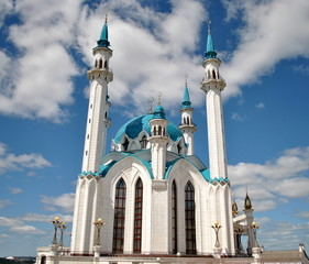 Blue Mosque Kul Sharif Mosque in Kazan, Russia