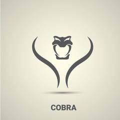 vector dangerous cobra snake icon