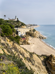 Beach of Calella in the Costa Brava of Catalonia, Spain