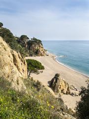 Playa de Calella en Cataluña, España