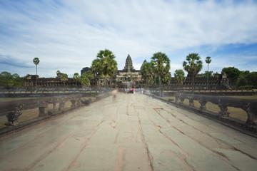 Main entrance to Angkor Wat in Cambodia