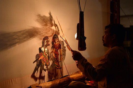 Traditional south of Thailand Shadow Puppet Show,Thailand