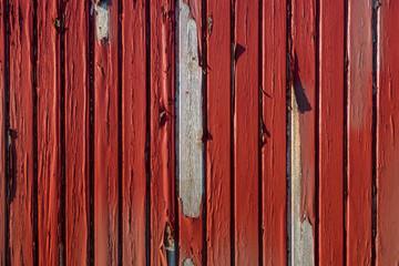 alte rote verwitterte Holzwand